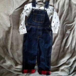 Carter's overalls set